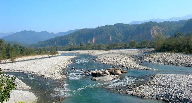 River Kosi flows near Corbett National Park