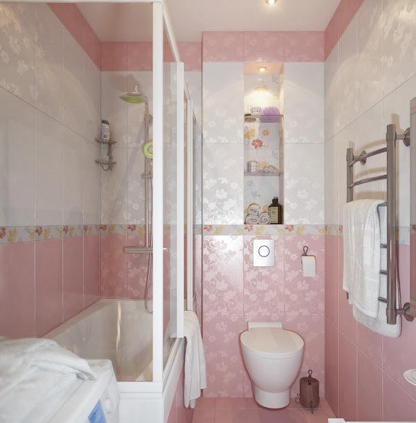 gambar desain interior kamar mandi minimalis mungil ukuran