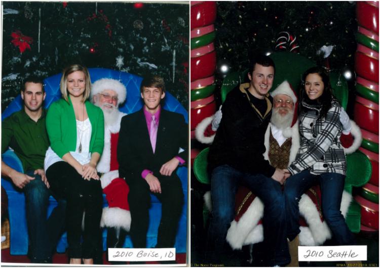 Santa Pictures, 30 Years of Christmas Santa Photos