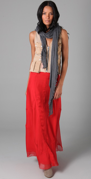 Item of the Week Rag Bone Long Feather Skirt
