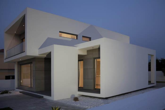 Casas minimalistas y modernas casa moderna en portugal - Iluminacion casas modernas ...