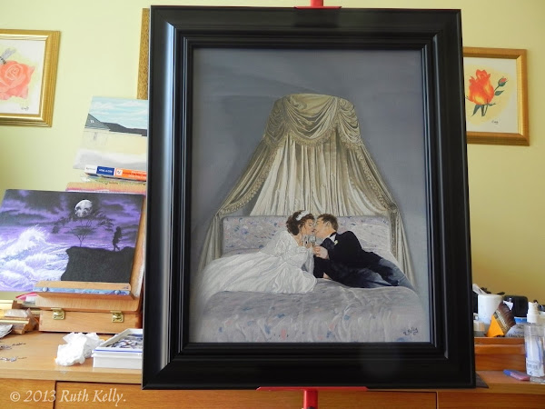Wedded Bliss by Ruth Kelly, Black Satin Frame, www.ruths-world.com