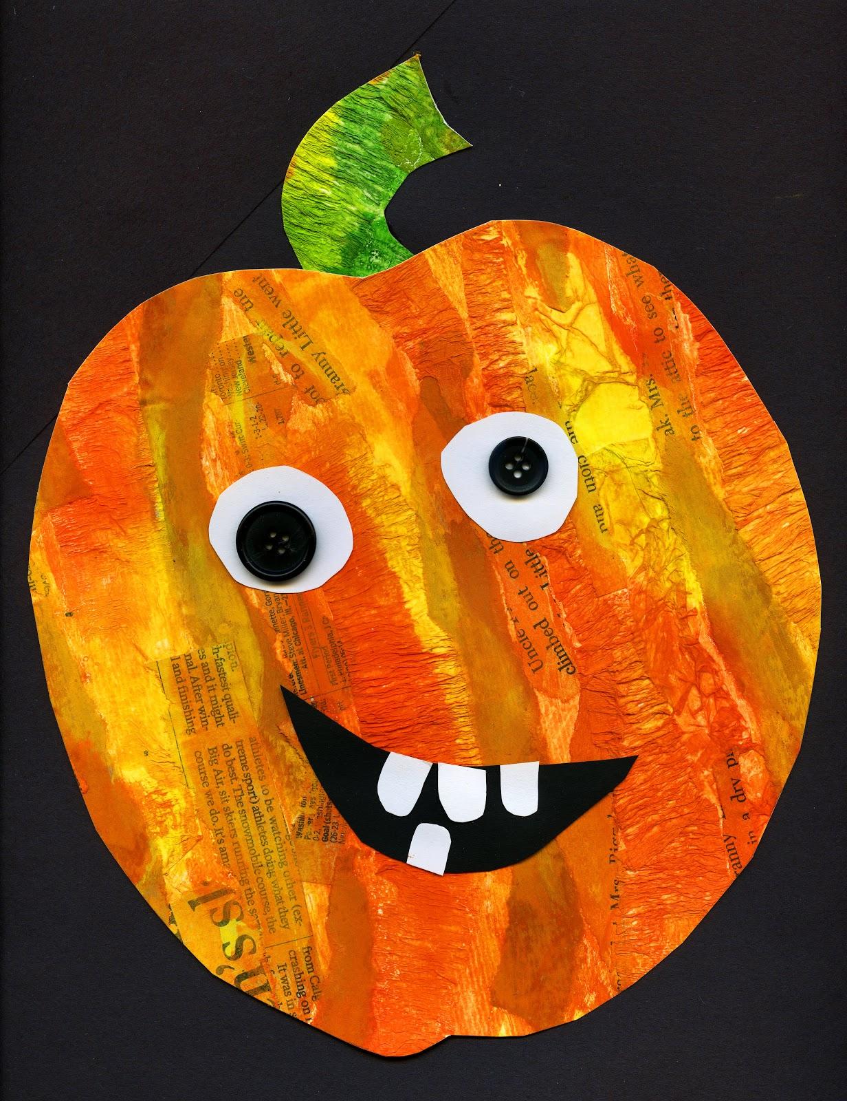 that artist woman mixed media pumpkins