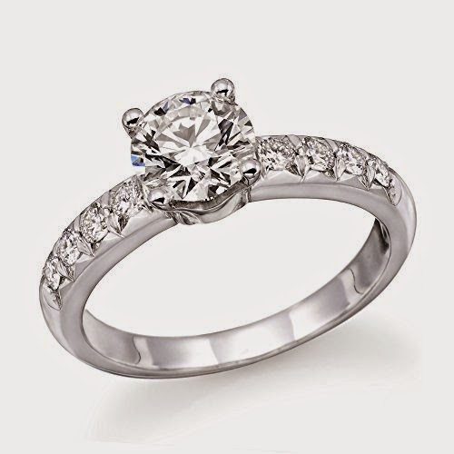 1 ctw. Round Diamond Solitaire Engagement Ring in 14k White Gold