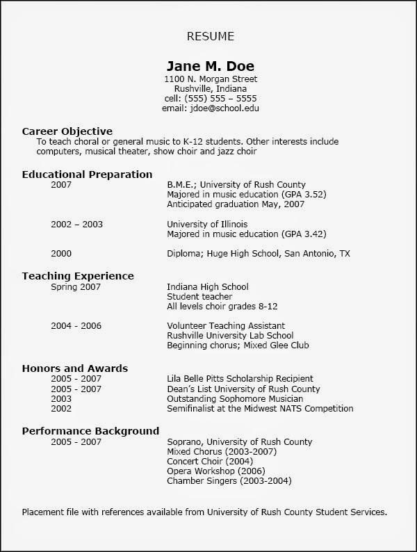 sorority rush resume template