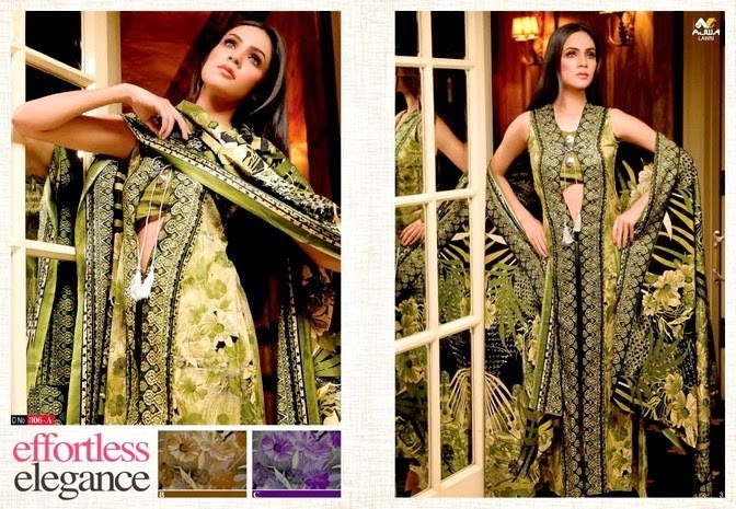 Ajwa Designer Lawn Prints 2014