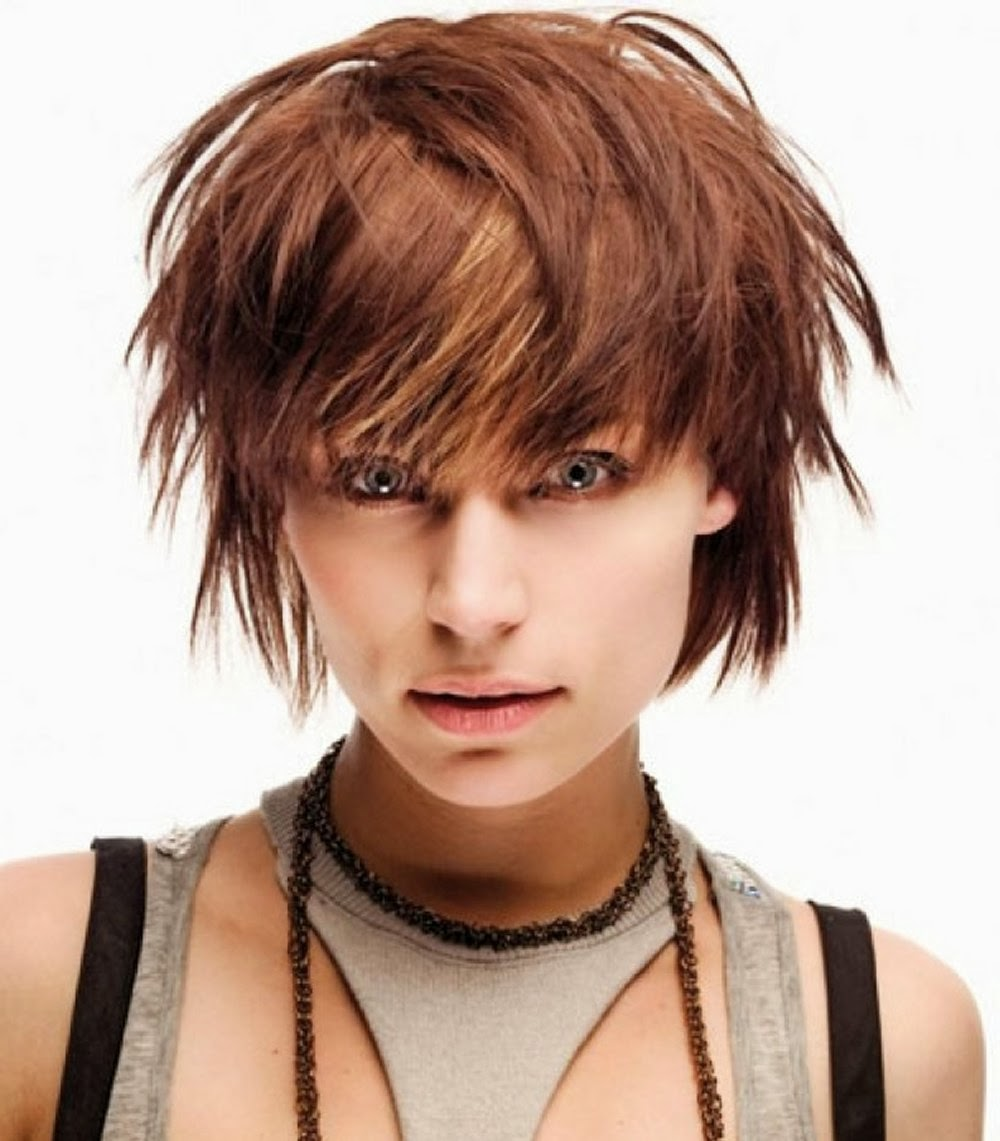 Short choppy layered haircuts with bangs