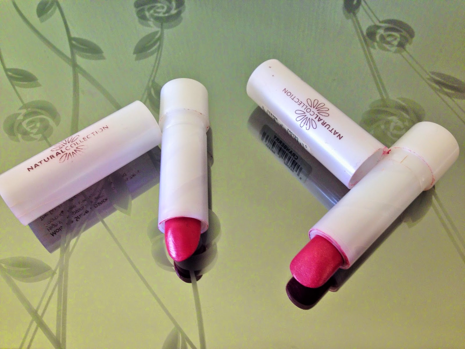 Boots Natural Collection Lipsticks in Raspberry and Cranberry