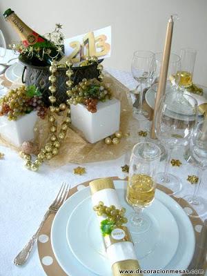 Decoracion de mesas mesa a o nuevo 2013 - Decoracion mesa nochevieja ...