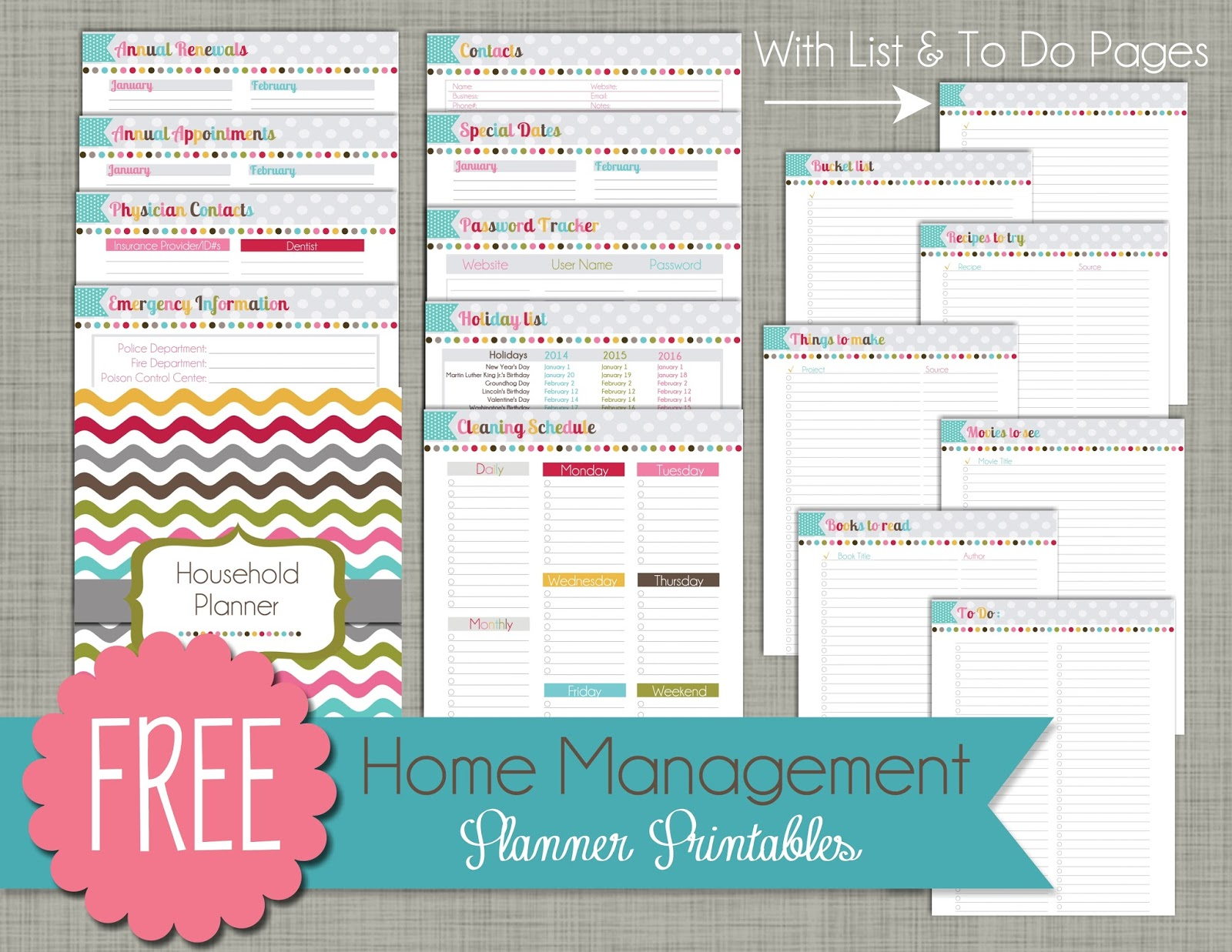Calendar Home Planner : The polka dot posie how to print assemble our small