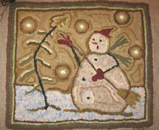 ORANGE SINK: My First Rug Hooking Pattern For Sale!