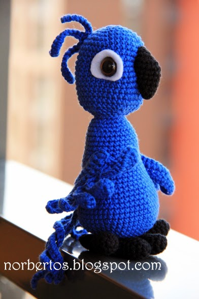Parrot BLU from movie Rio free pattern