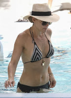 English: Molly Sims Black Bikini‭ ‬2014‭ ‬New Year Eve Miami‭