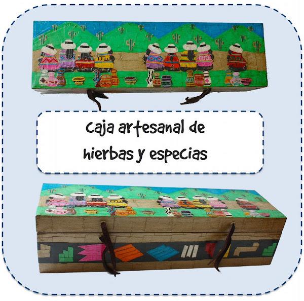 Caja artesanal de hierbas y especias argentina
