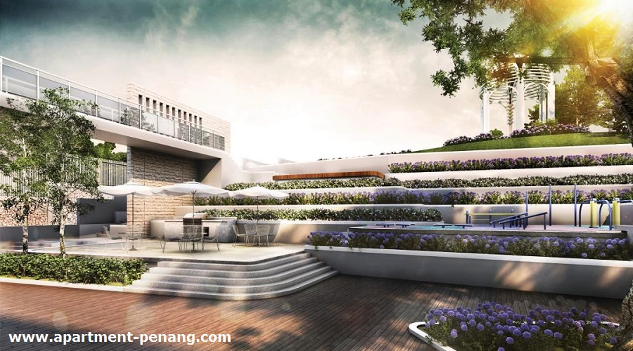 Eco terraces apartment for 7 terrace penang