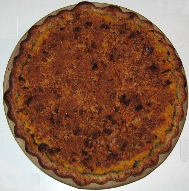 Savory Sweet Potato Pie with Poppy-Seed-Cheddar Crust