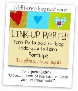 """Imagem do banner da 25ª Edição da BC """"Te Contei?"""", do Blog E de Etienne, sobre o que de bom se vê na tv."""
