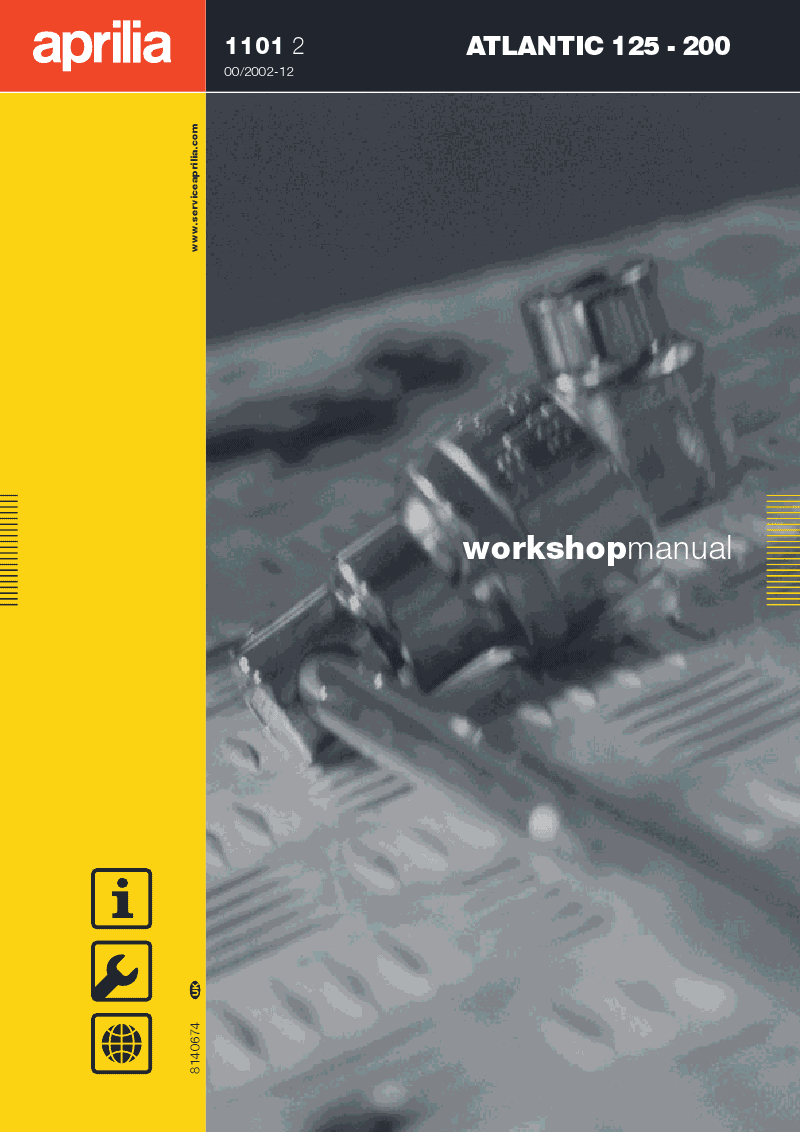 Filename: Aprilia Atlantic 500 Manual Language: English File : PDF Size: Mb