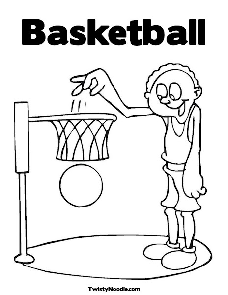 basketball coloring pages kids printable - Basketball Coloring Pages Kids