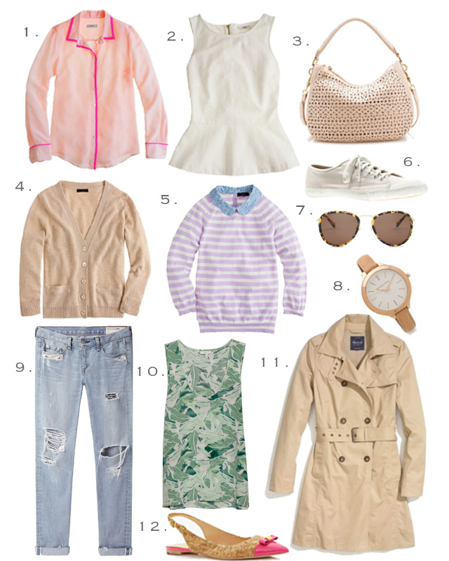 Wardrobe essentials for travel from Tretorn, C. Wonder, Rag & Bone