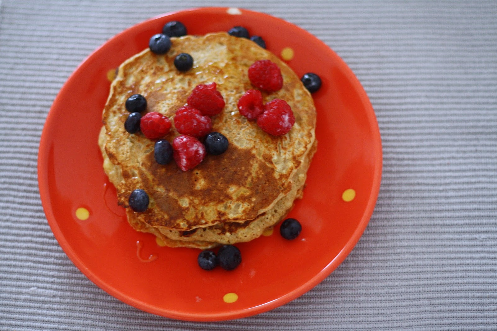 Pfannkuchen mit Blaubeeren
