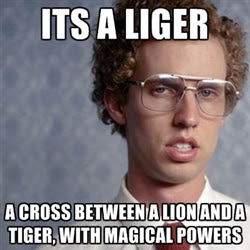 its a liger known for skills and magic see through