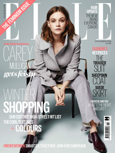 Carey Mulligan ELLE UK Magazine November 2015 photo shoot