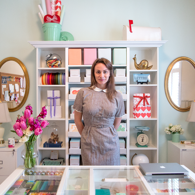 Studio Tour: The Happy Workspace of Love. Luck. Kisses & Cake Founder & Creative Director Katelyn Wood | LLK-C.com