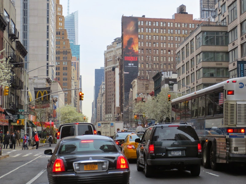 Godzilla movie billboard New York City