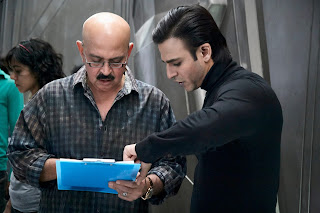 Vivek Oberoi with Rakesh Roshan on Krrish 3 Shooting Set