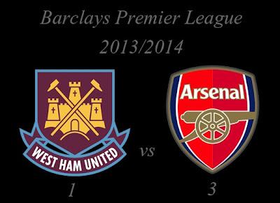 West Ham United vs Arsenal Barclays Premier League 2013