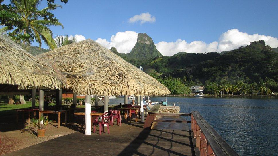 Terrasse du Restaurant Ananas Bleu au Club Bali Hai de Moorea