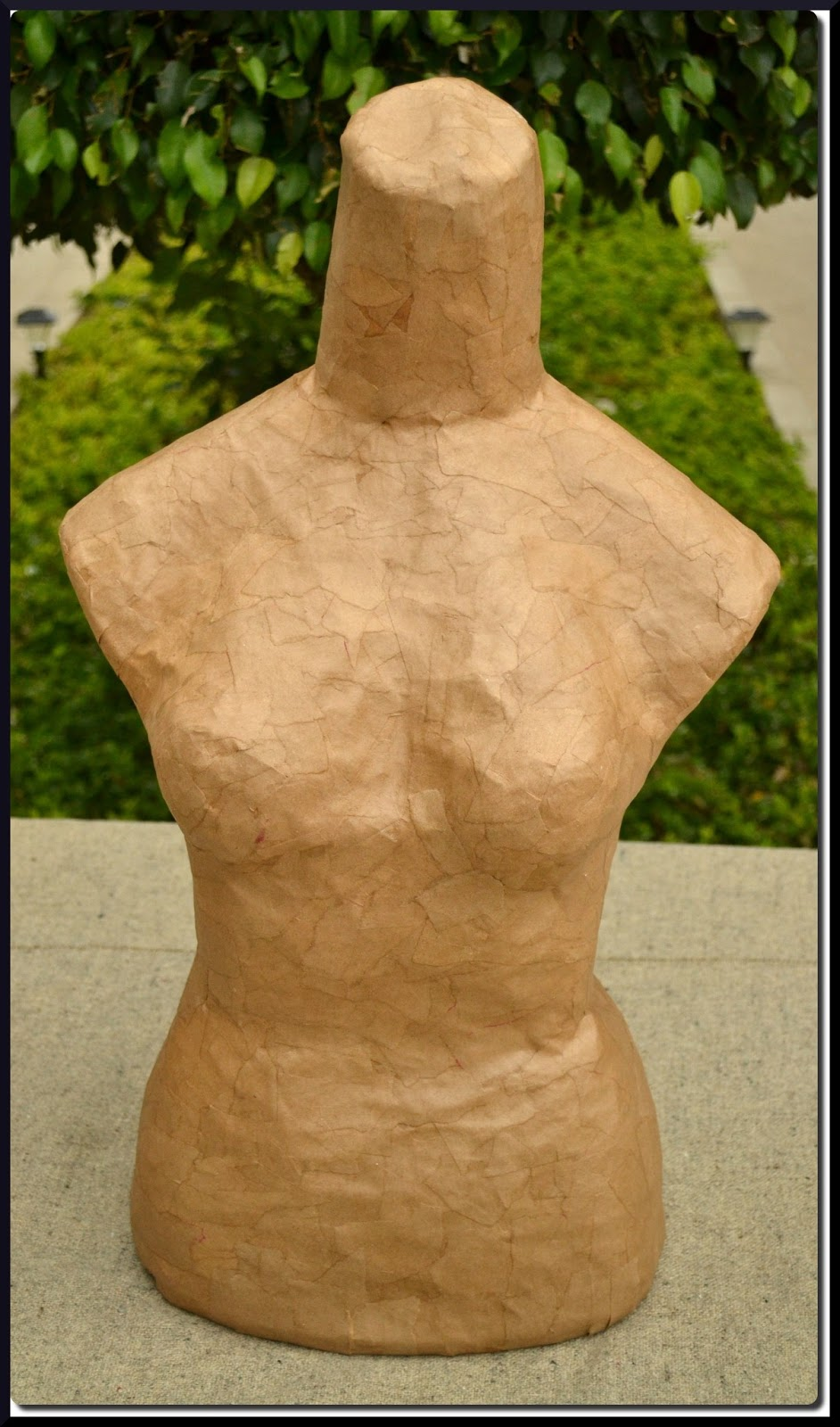 how to make a mannequin out of paper mache