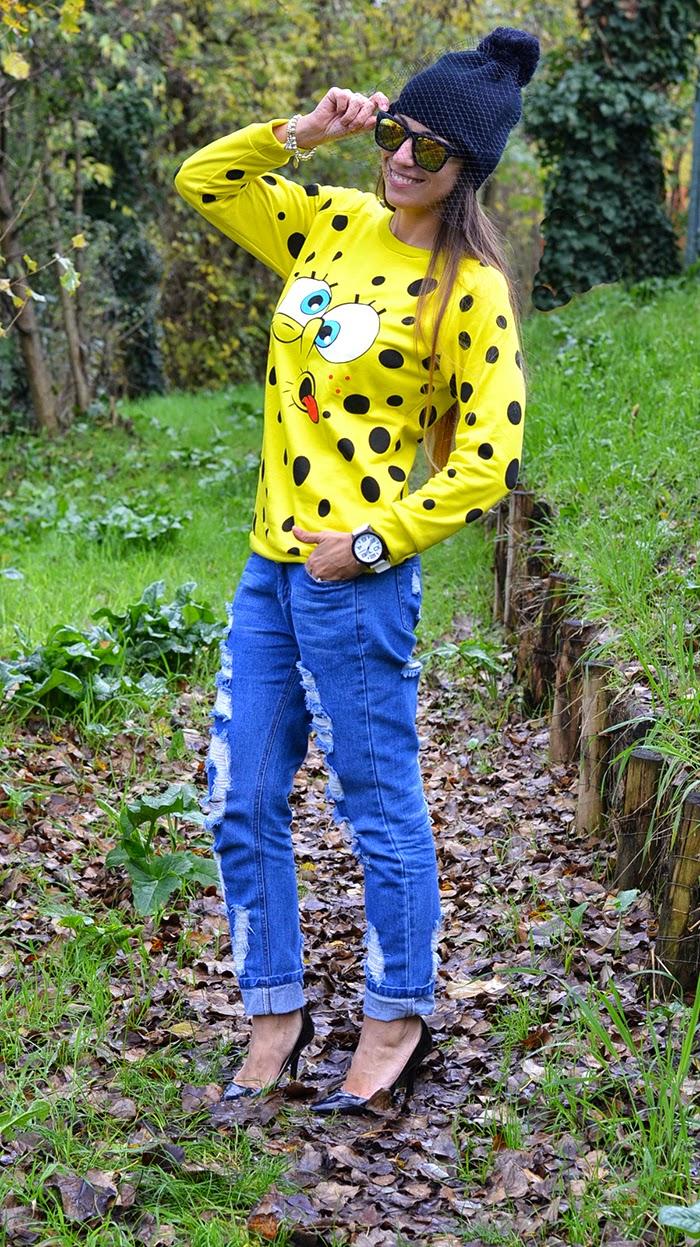jeans boyfriend tacchi outfit
