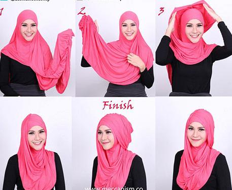 Tutorial Hijab Modern Ala Zaskia Adya Mecca