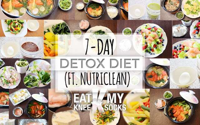 Eat My Knee Socks/Mimchikimchi's 7-day detox and diet, with NutriClean's digestive, colon maintenance pack.