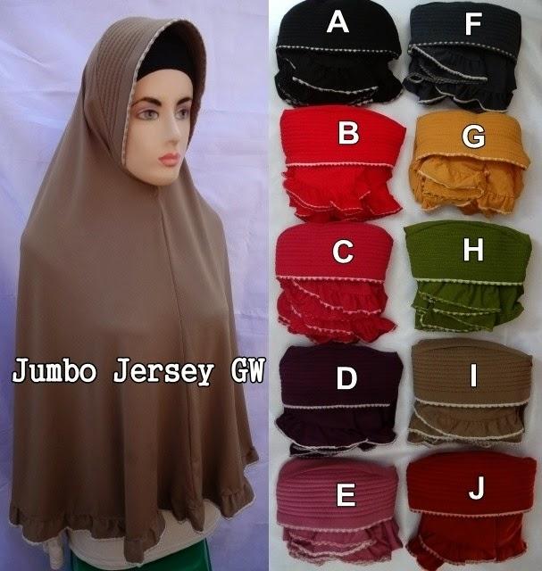Jilbab Jumbo Jersery