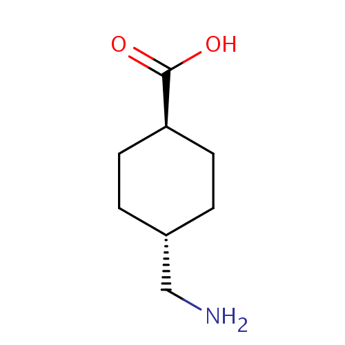 Struktur kimia Asam traneksamat (Tranexamic acid)