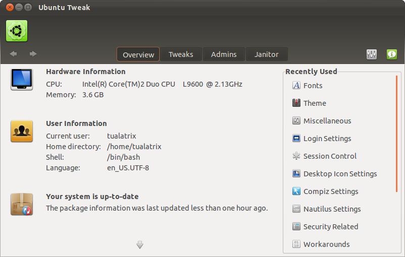 Ubuntu Tweak 0.6 telah dirilis