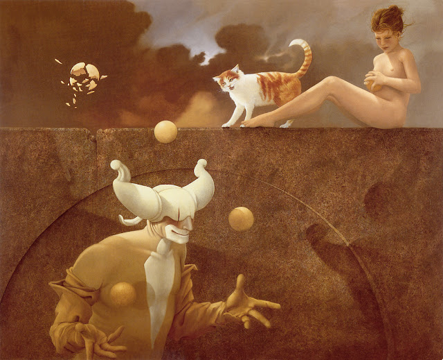 The Juggler,Micheal Parkes,surrealism