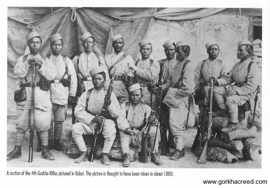 4th-Gorkha-Rifles-in-kabul-in-about-1880