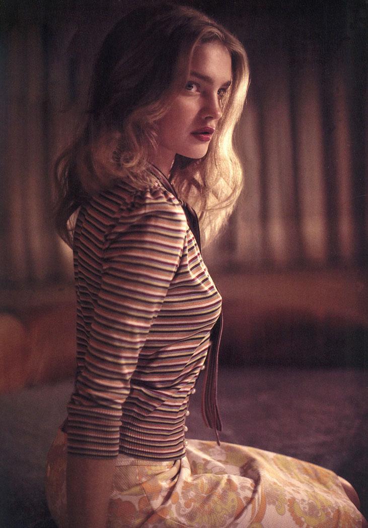 Natalia Vodianova in Harper's Bazaar US December 2003 (photography: Glen Luchford)