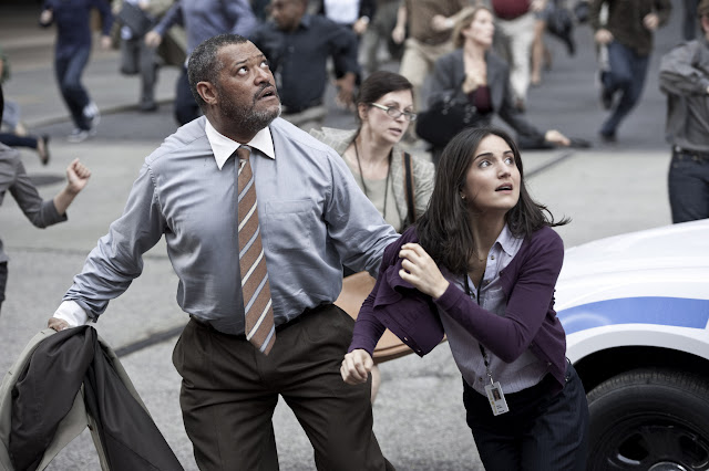 Man of Steel LAURENCE FISHBURNE as Perry White and REBECCA BULLER as Jenny