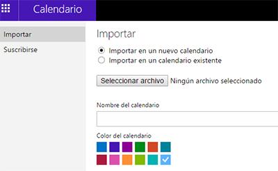 Como importar un calendario en Outlook