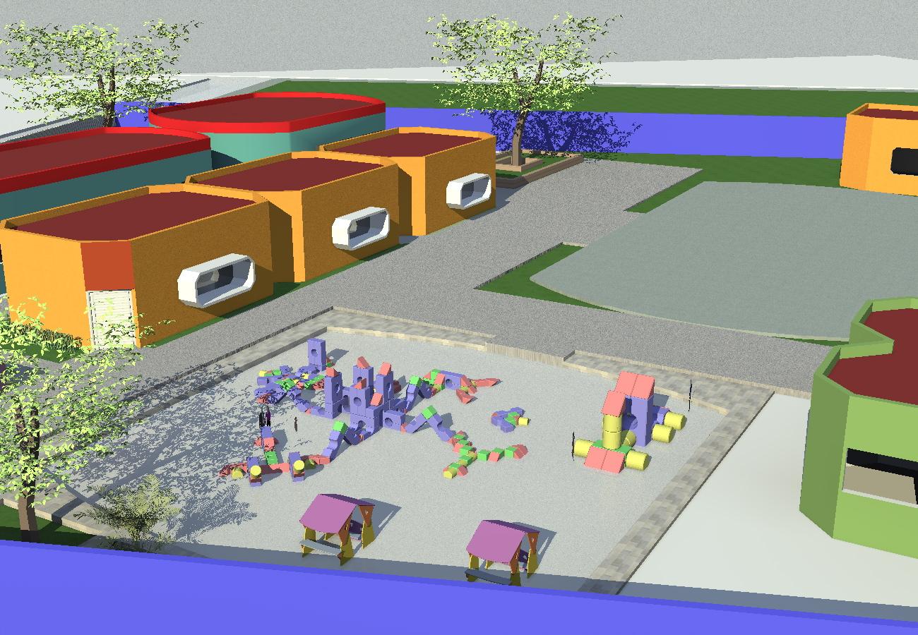 O m arquitectura for Juegos de jardin para nios en puebla