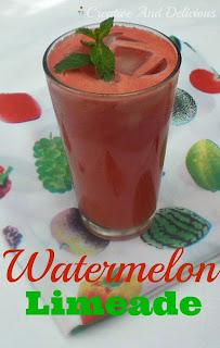 Watermelon Limeade ~ Delicious, fresh #Non-Alcoholic drink ! #DrinksRecipe #WatermelonRecipe #Limeade