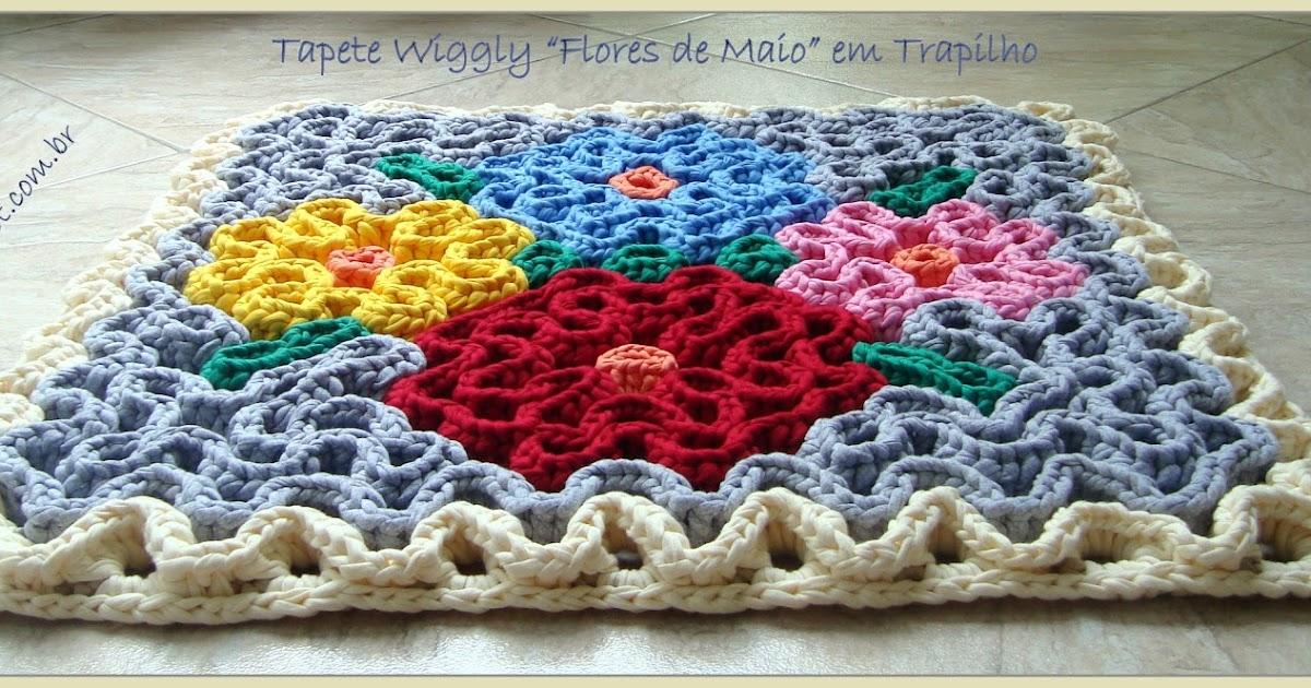 Вязание ковриков крючком по объемной схеме на филейной сетке 88