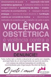 Somos contra a violência obstétrica