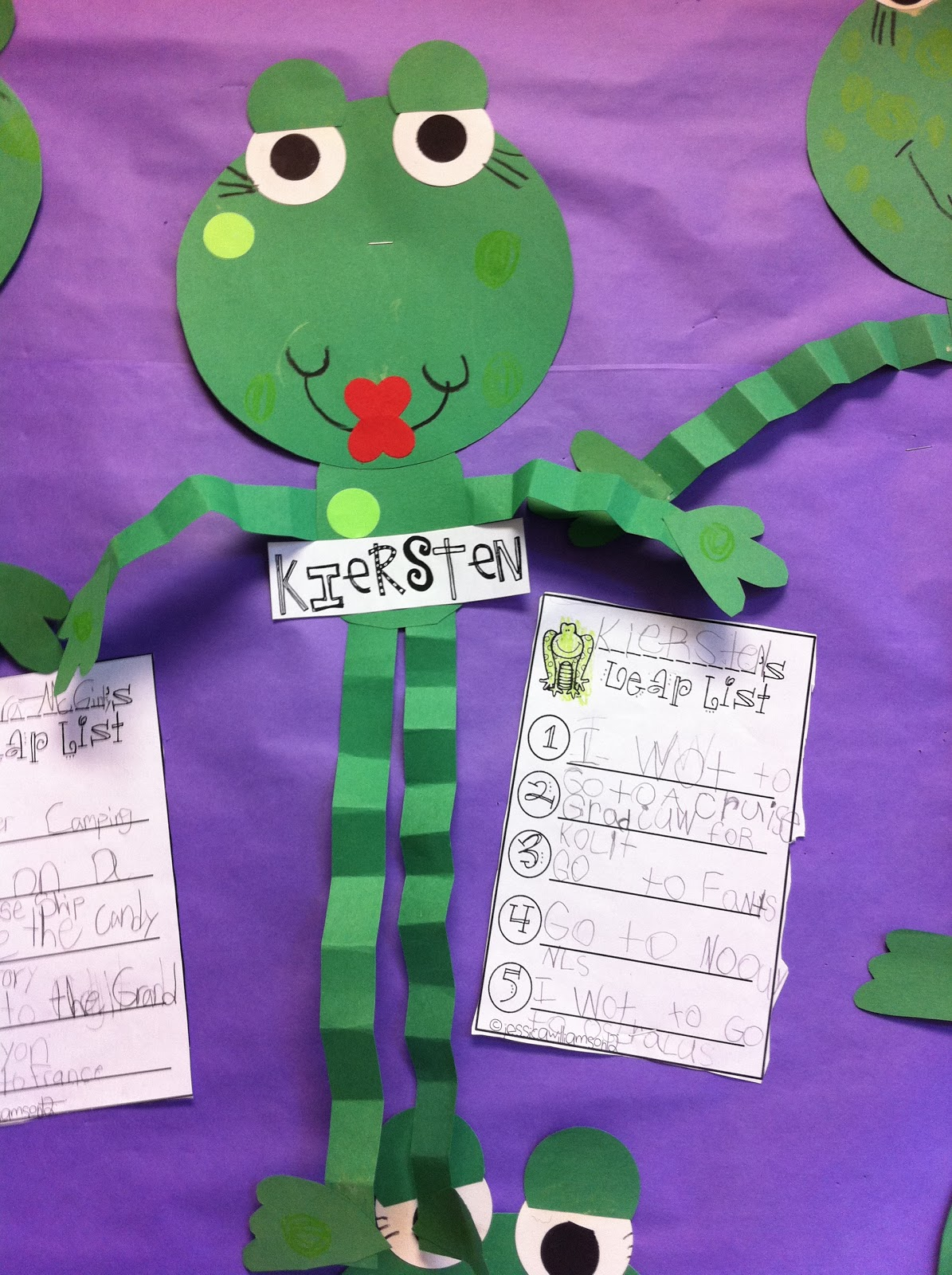 Welcome to room 36 leap year craftivity for Frog crafts for preschoolers