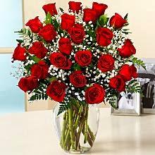 Two dozen long stemmed red rose